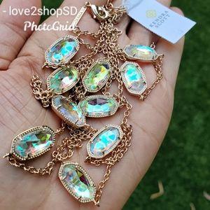 Kendra Scott Dichroic Rose Gold Kellie necklace